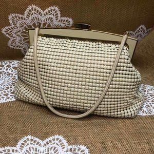 Vintage GLOMESH Cream Purse Shoulder Bag